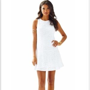 Lilly Pulitzer Kent White Lace Drop-Waist Dress
